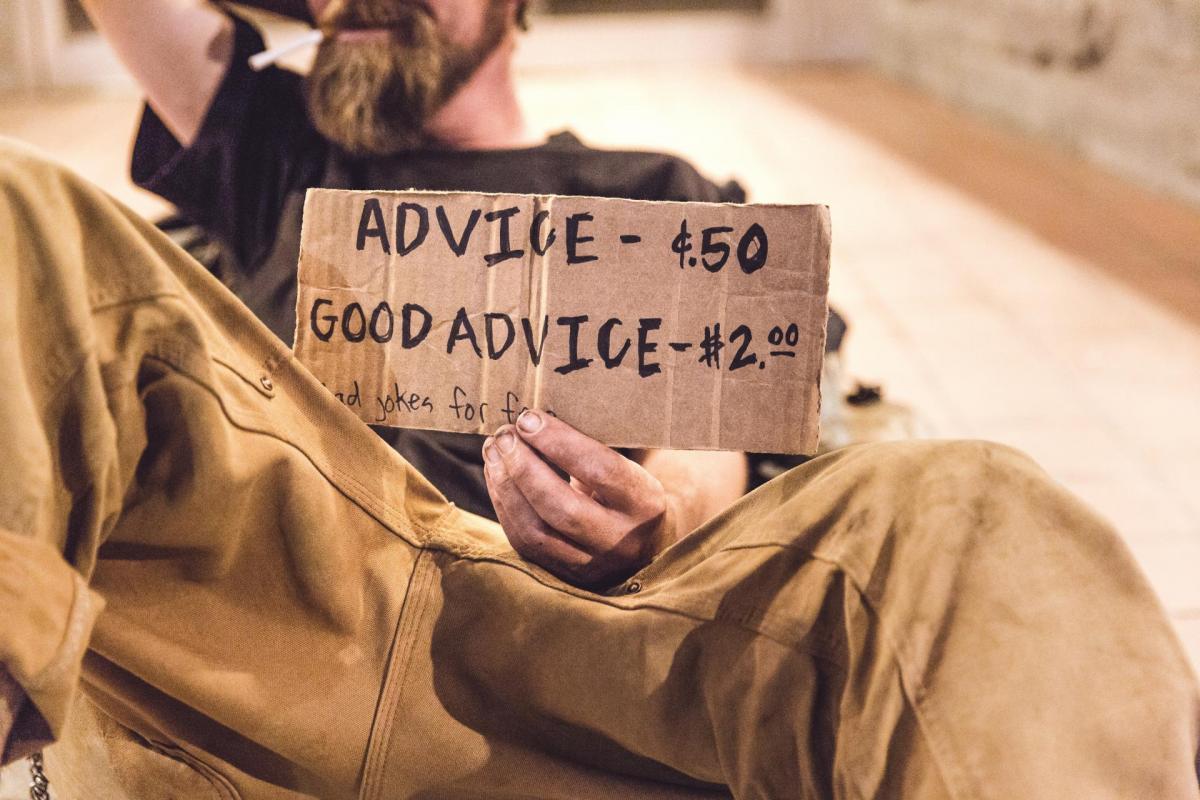 Image realisee par ryan mcguire mendiant advice